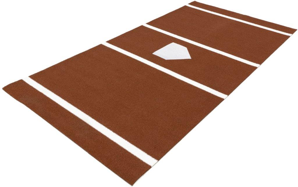 Baseball Stance Mat 6'x12' with a home plate & lines