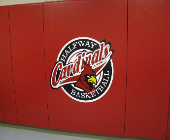 Wall Padding with Flex Firm Foam & graphics