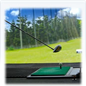 Golf barrier net